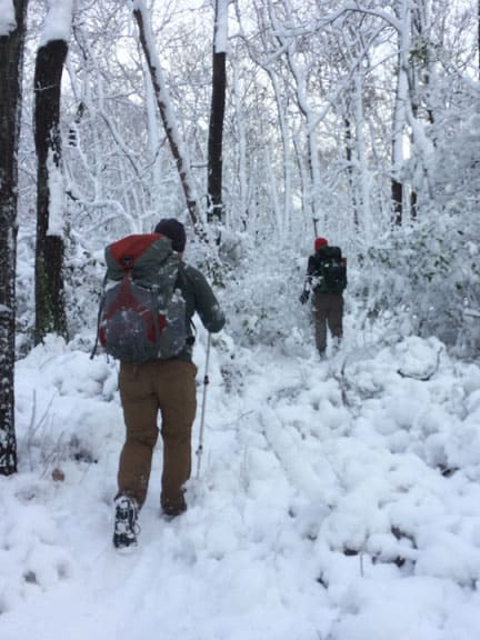 NY hiking club members following Long Path in Harriman State Park