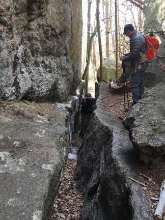 Photo of New York Ramblers passing through Lemon Squeezer, Harriman State Park, NY.