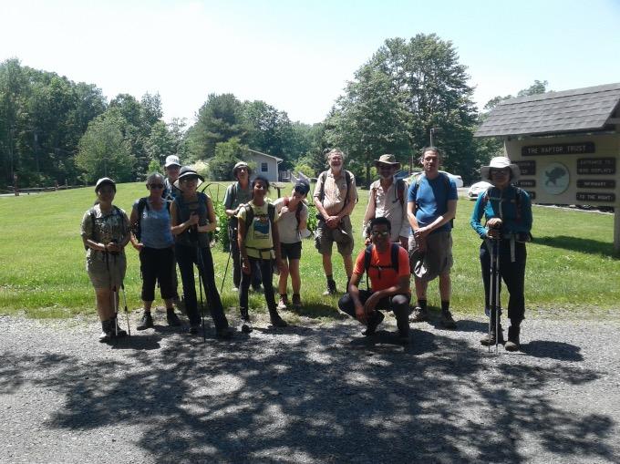 Group photo of New York Ramblers hiking club.