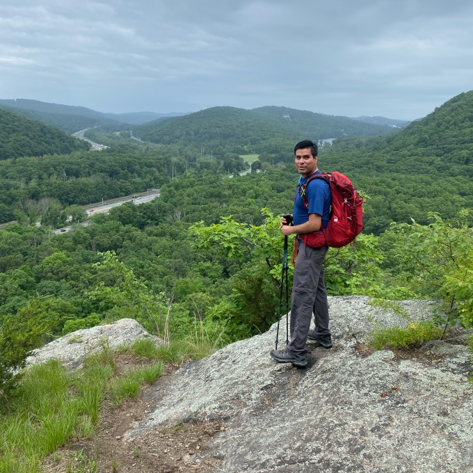 Photo of NYC hiking group leader.