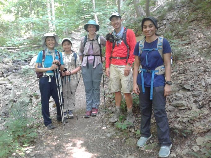 Group photo of NYC hiking club.