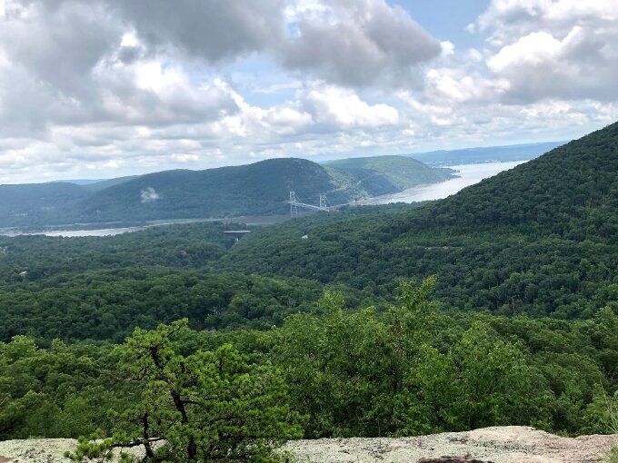Photo of Hudson River Valley with Anthony's Nose in the distance.